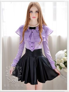 A lovely outfit for my wife. Lolita Fashion, Girl Fashion, Fashion Outfits, Womens Fashion, Fashion Trends, Beautiful Blouses, Beautiful Dresses, Skirt Outfits, Cool Outfits