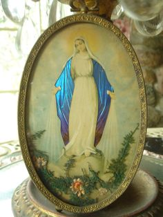Vintage Mary plaque