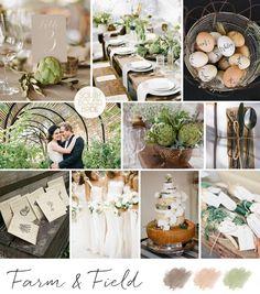 Farm & Field Wedding Inspiration Board | SouthBound Bride | http://www.southboundbride.com/inspiration-board-farm-field
