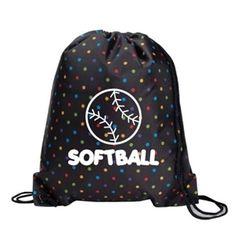 Imprint on Front - (Volleyball). Softball Tshirts, Softball Bags, Volleyball Accessories, Volleyball Outfits, Polka Dot Backpack, T Shirt Image, Drawstring Backpack, Polka Dots, Backpacks