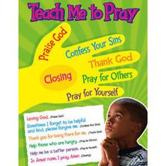 Trend Enterprises Teach Me To Pray Learning Chart----- we cary this chart at The Chalk Board & Gifts