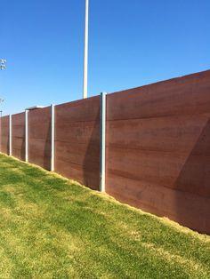Concrete Fence Concrete Fence Panels, Precast Concrete, Garage Design, Prefab, Outdoor Ideas, Outdoor Decor, Garage Doors, Fences, Wood