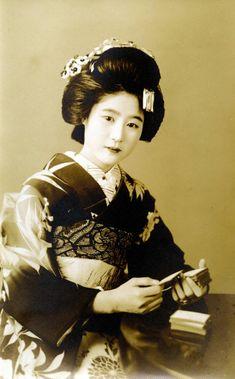 Umewaka Playing cards 1920s
