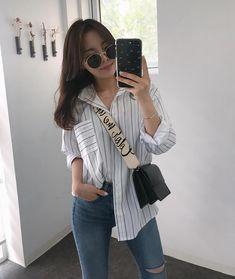 Korean Fashion – How to Dress up Korean Style – Designer Fashion Tips Korean Street Fashion, Korea Fashion, Asian Fashion, Daily Fashion, Girl Fashion, Fashion Outfits, Fashion Tips, Fashion Design, Casual Outfits