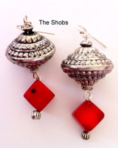 Red Coral earrings! £7 Coral Earrings, Drop Earrings, Red Coral, Beautiful Earrings, Jewellery, Fashion, Moda, Jewels, Fashion Styles