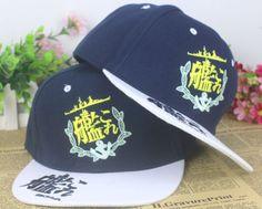 Kantai Collection Kancolle Girls Logo Hip Hop Hat Cap Snapback #KantaiCollection #Kancolle #Girls #Logo #HipHop #Hat #Cap #Snapback