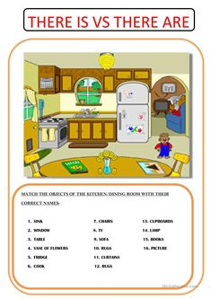 A collection of English ESL Furniture worksheets for home learning, online practice, distance learning and English classes to teach about English Homework, English Study, English Lessons, Learn English, Kindergarten Math Worksheets, Phonics Activities, Educational Activities, English Vocabulary, English Grammar