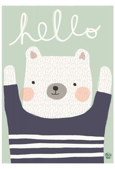 Aless Bayliss Polarbear Hello Poster | The Kid Who