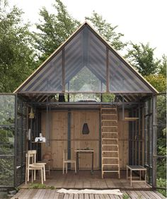 Kolonien I – Transitional Shelter – Jane Ostermann-Petersen Cabin Design, House Design, One Room Houses, One Room Cabins, Dream Houses, Shelter, Microhouse, Bothy, Patio Interior