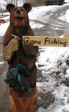 3' Ski Bear- by Chainsaw Jack