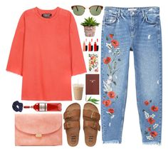 """""""344. Rose Bloom"""" by ass-sass-in ❤ liked on Polyvore featuring MANGO, Yeezy by Kanye West, L.G.R, Sloane Stationery, Billabong, Rifle Paper Co, Mansur Gavriel, MAC Cosmetics and Miss Selfridge"""