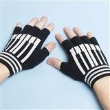 Fingerless Piano Keyboard Gloves