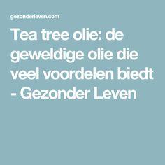 Tea tree olie: de geweldige olie die veel voordelen biedt - Gezonder Leven