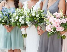 """""""Wedding Color Mistake: Choosing An Unflattering Color From Your Palette for Your Bridesmaid Dresses. The Fix: Dressing Them in Complementary Neutrals."""""""