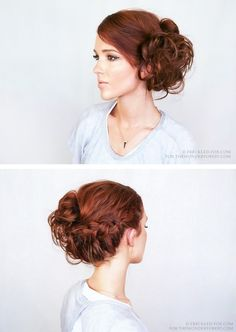DIY Braided Updo Tutorial from The Freckled Fox for Wonder Forest.