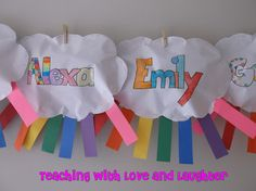 Teaching With Love and Laughter: Rainbow Name-Bow