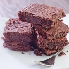 Made with a homemade chocolate hazelnut spread, these rich brownies are much healthier than a boxed mix.