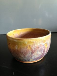 Crazy tie dye bowl. Wheel thrown pottery by ThronePottery on Etsy