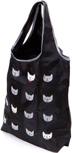 kawaii big shopping bag with funny cat heads