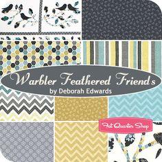 Warbler Feathered Friends Fat Quarter Bundle Deborah Edwards for Northcott Fabrics - Fat Quarter Shop