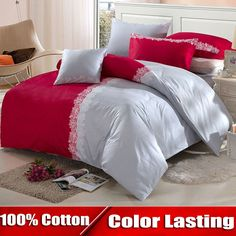 Find More Bedding Sets Information about [Flower gift]100% cotton luxury brand bedding set king size comforter set 4pcs cotton duvet covers bed sheet set bed linen,High Quality Bedding Sets from Dreamy home on Aliexpress.com