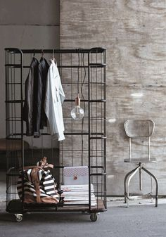 industrial clothing rails..