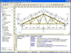 TRUSS4 by Fine Ltd - http://www.cesdb.com/truss4.html - Software suite TRUSS4 is designed for analysis of timber truss structures connected with punched metal plate fasteners. - #truss #civilengineering