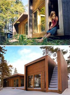 """Designed by Saunders Architecture.  """"Summerhouse Aaland was designed by Todd Saunders and Tommie Wilhelmsen in the Fall of 2002. This house ta"""