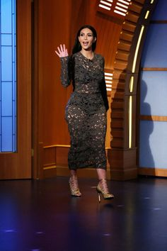 Kim Kardashian during an appearance on Late Night with Seth Meyers
