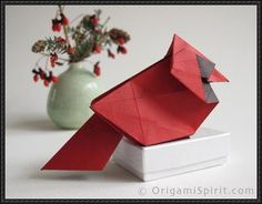Animal Origami - Northern Cardinal Tutorial