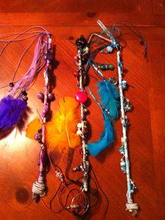 Wands. - Not a Pinterest item, but I made them!