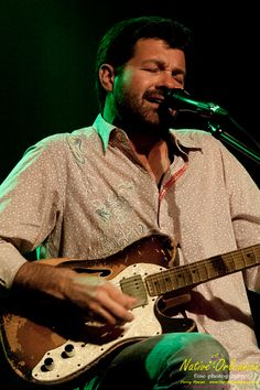 Mr. Tab Benoit doing what he does best...writing music, singing and wailin' on his Fender guitar!