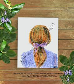 Toddler Girl Art, Hairstyle print, Girls room art, Girls wall decor, Hair salon decor, Girls room decor, Baby girl hairstyle, Girls wall art