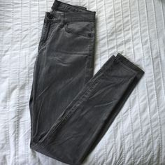 Stretch gray/silver jeans Silver jeans with a silky feel to them. Stretch. Seven7 Jeans Straight Leg