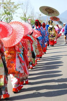 Oiran parade in Japan