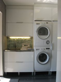 Stacked Washer Dryer, Washer And Dryer, Laundry, Home Appliances, Decoration, Bath, Laundry Room, House Appliances, Decor