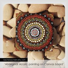 Authentic Aboriginal Dot Art Acrylic paint on by RaechelSaunders, $20.00