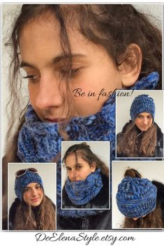 Top knot beanie is perfect way to be in fashion in cold season. It's so practical, keeps you warm, look chic! Be in fashion!