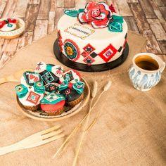 Painted Cupcakes & Cake
