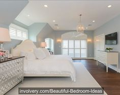 This bedroom is SO #Pretty !I love clean #decor like this. Do you?