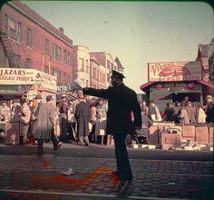 Maxwell Street Market - Chicago, Vintage Color slide - about 1960 by Mike Leavenworth, via Flickr