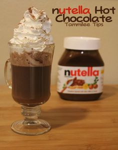 1 cup milk, 2 1/2 tablespoons Nutella, 1 tablespoon cocoa. Whisk in pan over medium heat
