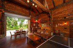Man Cave!!!!    Fultonville Barn - traditional - family room - austin - HeritageBarns.com