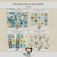 SoMa Design: Cooling Off At The Beach - Bundle Digital Scrapbooking, Challenges, Kit, Cool Stuff, Frame, Beach, Design, Cool Things