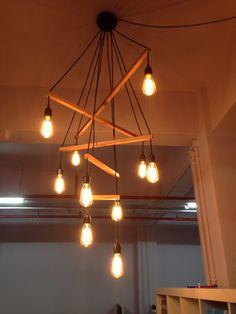 Custom Edison chandelier by GUERILLA X on www.facebook.com/LikeLights