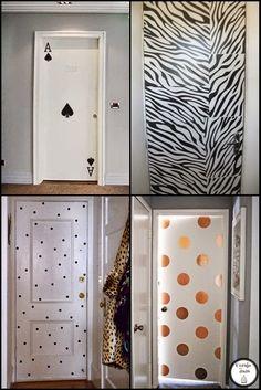 Coruja sem asas: Portas decoradas