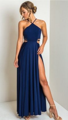 Sexy Prom Dress, High Slit Prom Gown, Sleeveless #prom #promdress #dress #eveningdress #evening #fashion #love #shopping #art #dress #women #mermaid #SEXY #SexyGirl #PromDresses