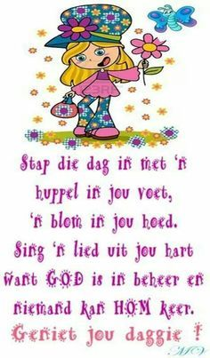 God is in beheer. Cute Picture Quotes, Cute Quotes, Cheer Up Quotes, Lekker Dag, Morning Qoutes, Afrikaanse Quotes, Im A Princess, Bible Qoutes, Goeie More