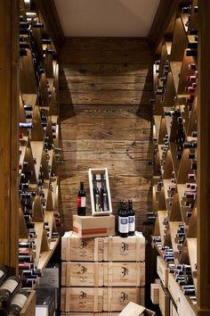 Weinkeller Rasmushof Kitzbühel von Diogenes www.at cellar Bar Under Stairs, Under Stairs Wine Cellar, Wine Cellar Basement, Wine Cellar Design, Wine Cellar Modern, Home Wine Cellars, Wine House, Wine Wall, Italian Wine