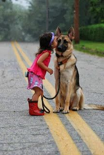 And sometimes a little girl's best friend German Shepherds, German Shepherd Pictures, Puppy German Shepard, German Shepherd Rescue, German Shepherd Wallpaper, Kids With Dogs, Big Dogs, I Love Dogs, Child And Dog
